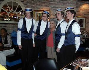 mom and barbershop quartet